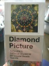 5d Diamond Picture Painting Cross Stich Art Kit 30x30cm Full Drill Colourful Dog