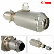 Stainless Steel Motorcycle 51mm Escape Exhaust Mufflers Exhaust Pipe Universal