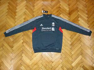 Liverpool Soccer Sweat Top England Football Sweatshirt RARE Grey NEW
