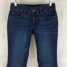 Lee Riders Petite Womens 10P Stretch Blue Dark Wash Soft Mid Rise Bootcut Jeans
