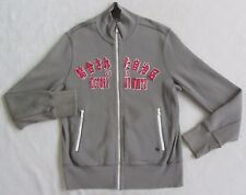 Express Men's 100% Cotton Long Sleeve Full Zip Gray Sweater Track Jacket - Small