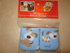 Puppies-Cotton-Microwave Oven Mitts-Hot Pads-Pot Holder-Patty's Mitts Free