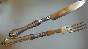 Never economize on luxury - antique solid silver Dessert Knives And Forks