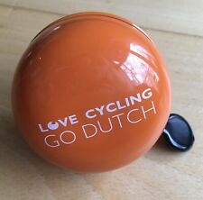 Bright Orange Vintage Style Bike Bell - Holland Love Cycling Go Dutch