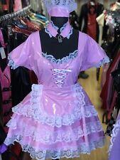 Misfitz bubblegum pink pvc frilly Sissy Maids Dress + FREE choker size 22 TV CD