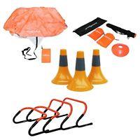 Koordinationsleiter Markierungshütchen Pylonen Fallschirm Hürden Kegel Fußball
