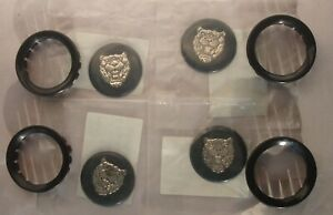 SET OF 4 NEW JAGUAR XJS XJ6 WHEEL CENTER BADGE & retainers CAC6502 & CAC6442