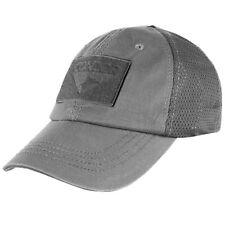 Condor Mesh Tactical Cap Graphite 3 Hook & Loop Panels Adjustable Baseball Hat