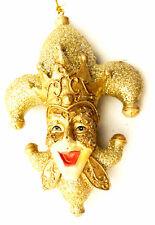 Fleur de Lis Gold Royal Face New Orleans Mardi Gras Ornament Christmas