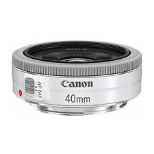 NEW CANON EF 40mm F2.8 STM Pancake White Lens - Bulk Package