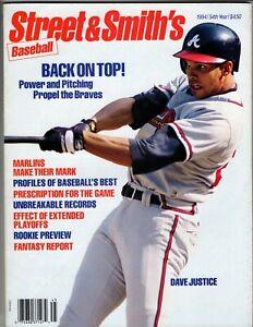 1994 Street & Smith's Baseball Yearbook DAVE JUSTICE, Atlanta Braves   FREE SHIP