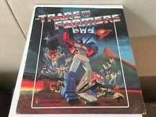 Transformers G1 1986 vintage PANINI album book
