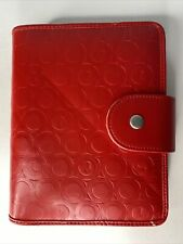 365 Franklin Covey Red Clock Embossed Planner Size 4 Compact Plank Inserts Inc