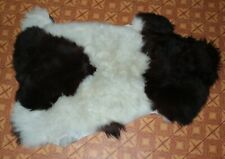 Art floor decor sheepskin rug natural skin carpet Dog bed 80*45cm