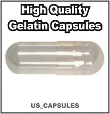 1000 NEW EMPTY GELATIN CAPSULES SIZE 1 (Kosher) GEL CAPS PILL COLOR - CLEAR