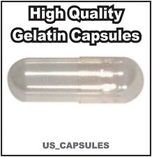 500 NEW EMPTY GELATIN CAPSULES SIZE 00 (Kosher) GEL CAPS PILL COLOR - CLEAR