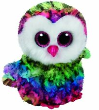 OWEN THE MULTI COLOUR OWL TY BEANIE BOOS  BRAND NEW