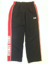 Under Armour Boy's Athletic Pants YXL  Mesh Lined Red Black