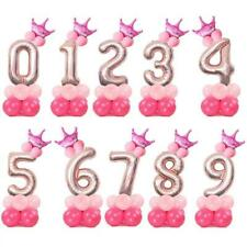 Large Number Balloon Column Stand Rose Gold Princess Birthday Party AU Stock
