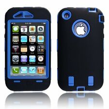 Body Armor Hybrid Shell Case Cover for Apple iPhone 3G / 3GS - Black & Blue