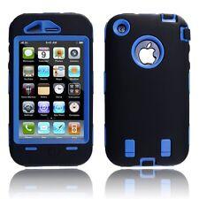 Body Armor Hybrid Shell Case Cover for Apple iPhone 3G / 3GS - Black & Blue
