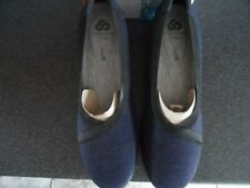 CLARKS  CLOUDSTEPPER S DASH SIZE 6D  WEDGE NAVY SHOES BNWT