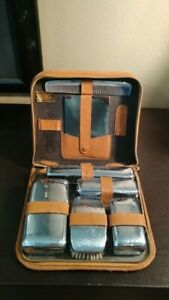 Vintage Corwell Men Toiletry Leather Travel Bag