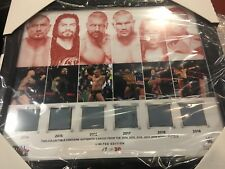 WWE Royal Rumble 2014 To 2018 Mat Plaque 19/30 Axxess Exclusive WWF