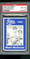 1982 Anchorage Mark McGwire Glacier Pilots ROOKIE RC PSA 8 Graded Baseball Card