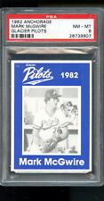 1982 Anchorage Mark McGwire Glacier Pilots ROOKIE RC PSA 8 Graded Baseball Card