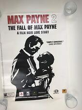 MAX PAYNE 2 ROCKSTAR PLAYSTATION XBOX PROMO POSTER DISPLAY SIGN