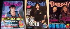 IRON MAIDEN on COVER LOT of 3 Japan Magazines RARE!