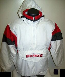 TAMPA BAY BUCCANEERS Starter Hooded Half Zip Pullover Jacket  M L XL 2X WHITE