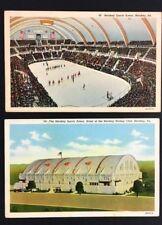 1940 Hershey Sports Arena Postcard Interior + Exterior Views Hockey Basketball