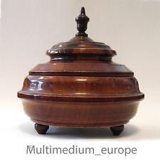 Holz Dose Holzdose rund Deckel dose gedrechselt Drechsel arbeit Intarsien 1860