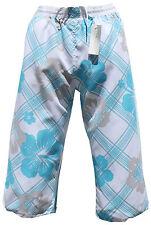 Pantaloncini da Bagno Bermuda 3/4 Cargo Casual Bianca Blu in S M L XL XXL XXXL 2xl 3xl