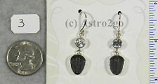 Trilobite Earrings w/ White Topaz $79 Sterling Silver Jewelry Starborn Creations