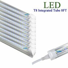 10Pcs 2.4m 8FT 40w LED T8 Integrated Fluorescent Tube Light Lamp Daylight 6000K
