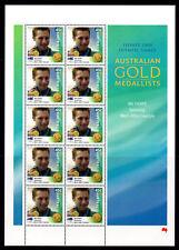 2000 Gold Medal Winners 45c Swimming 400m Ian Thorpe Offset Print Sheet MUH