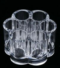 Clear Acrylic Cosmetic Organizer Makeup Case 12 Slots Holds Lipstick Eyeliner