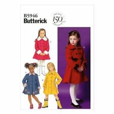 Butterick Sewing Pattern 5946 Girls Childs Lined Coat Size 2-5 CDD