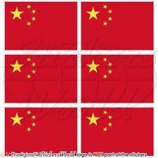 CHINE Drapeau Chinois 40mm Mobile Cellule Téléphone Mini Autocollants x6