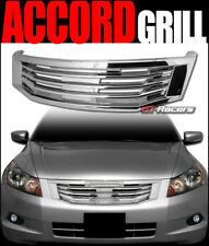 2008-2010 HONDA ACCORD SEDAN CHROME MU STYLE FRONT HOOD BUMPER GRILL GRILLE ABS