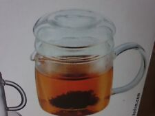 BODUM TEA FOR ONE TEA GLASS INFUSER CUP AND SAUCER SET BOXED K1810