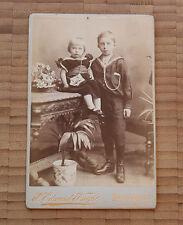 Altes Foto Kabinettfoto Porträt Pappbild Antik um 1900   Kellerfund