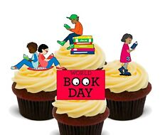 World Book Day Pack of 12 Edible Cup Cake Toppers, Fairy Bun Decorations