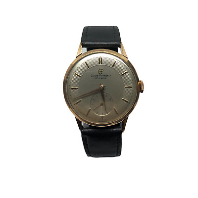 Girard-Perregaux 18k Solid Gold Texture Dial Manual Wind Men´s Watch jumbo 39mm