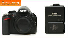 Nikon D3100 Digital 14MP SLR Camera Body,Charger Battery, Free UK PP