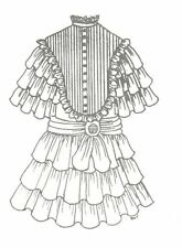 """Sewing doll dress pattern Antique Design size 23"""" 24""""  #67"""