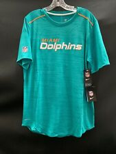 MIAMI DOLPHINS TEAM ISSUED ON FIELD DRI-FIT SHORT SLEEVE SHIRT NEW W/TAGS MEDIUM